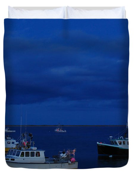 Chatham Pier Duvet Cover by Juergen Roth