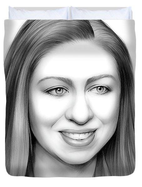 Chelsea Clinton Duvet Cover by Greg Joens
