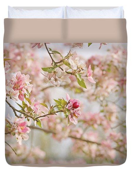 Cherry Blossom Delight Duvet Cover by Kim Hojnacki