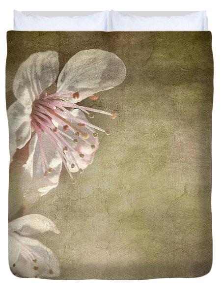 Cherry Blossom Duvet Cover by Meirion Matthias