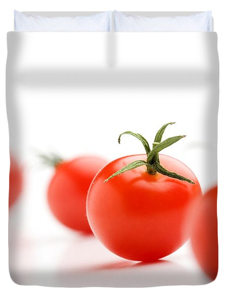 Cherry Tomatoes Duvet Cover by Kati Molin