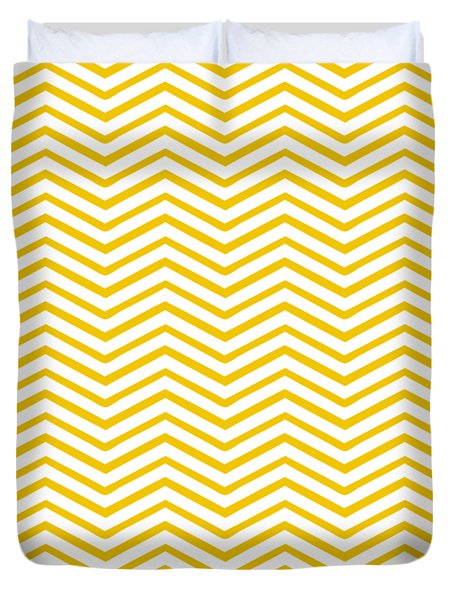 Chevron - Pattern 3 In White W05-p0140 Duvet Cover by Custom Home Fashions