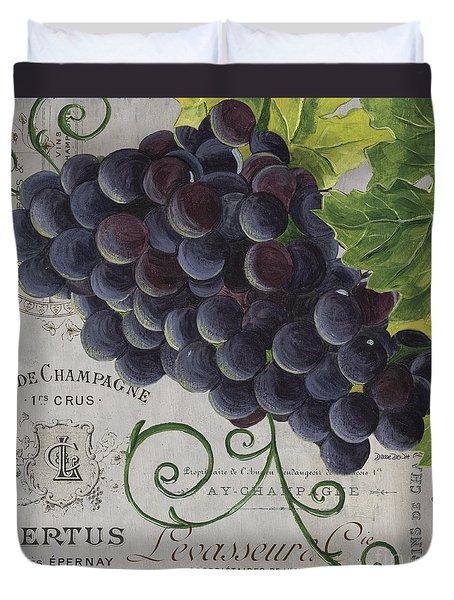 Vins De Champagne 2 Duvet Cover by Debbie DeWitt
