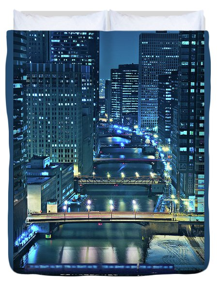 Chicago Bridges Duvet Cover by Steve Gadomski