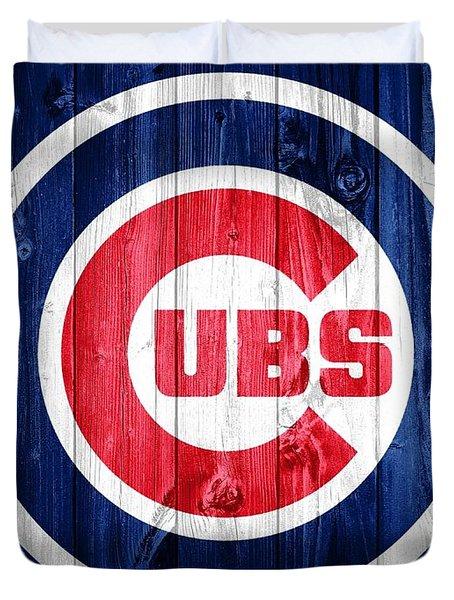Chicago Cubs Barn Door Duvet Cover by Dan Sproul