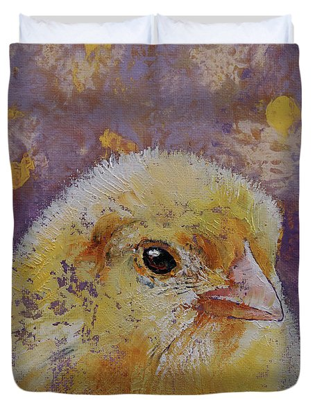 Chick Duvet Cover by Michael Creese