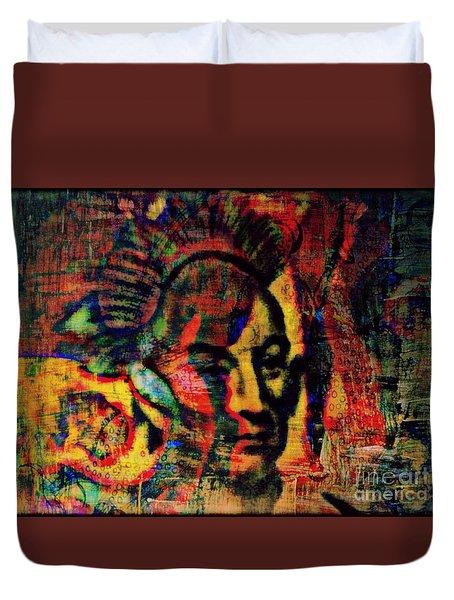 Chief Black Hawk Duvet Cover by WBK