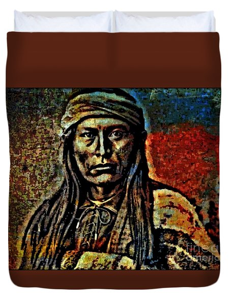 Chief Cochise Duvet Cover by WBK