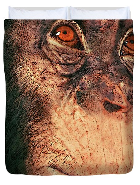 Chimp Duvet Cover by Jack Zulli