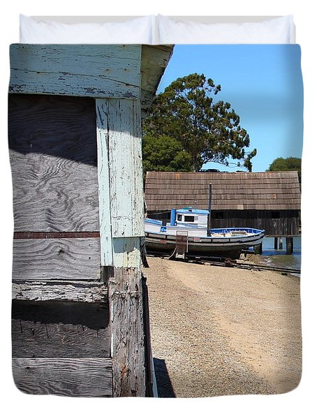 China Camp In Marin Ca - Vertical Duvet Cover by Wingsdomain Art and Photography
