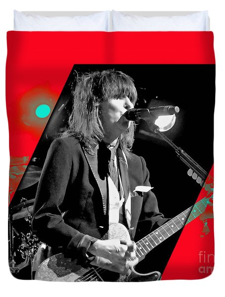 Chrissie Hynde Collection Duvet Cover by Marvin Blaine