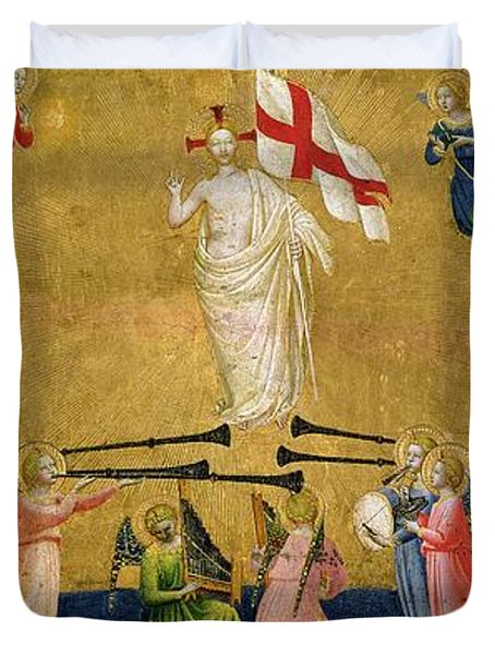 Christ Glorified In The Court Of Heaven Duvet Cover by Fra Angelico