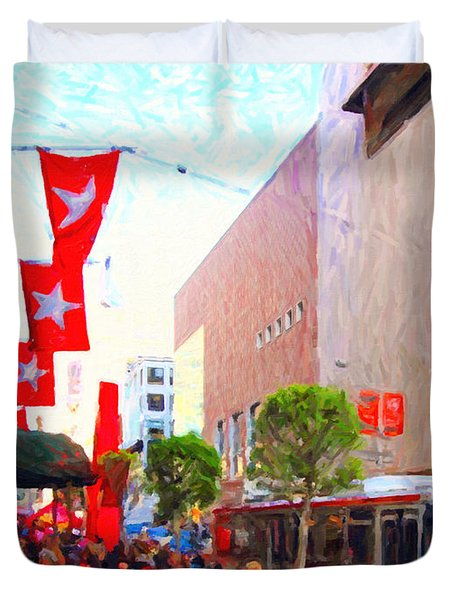 Christmas At Macys In San Francisco . Photoart Duvet Cover by Wingsdomain Art and Photography