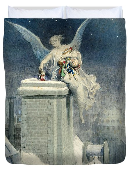 Christmas Eve Duvet Cover by Gustave Dore