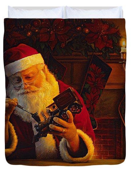Christmas Eve Touch Up Duvet Cover by Greg Olsen
