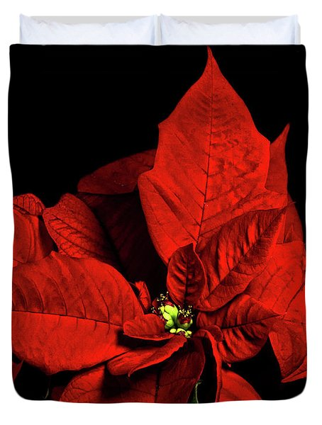 Christmas Fire Duvet Cover by Christopher Holmes