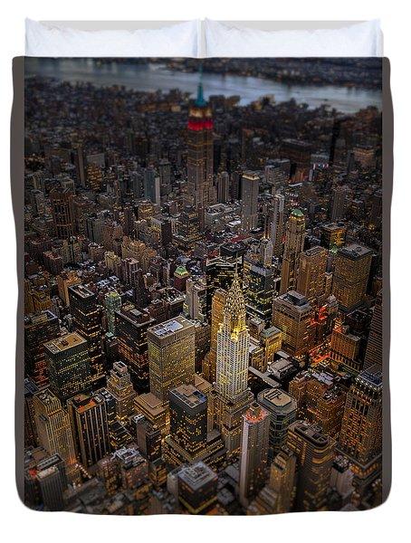 Chrysler Building Nyc Skyline Duvet Cover by Susan Candelario