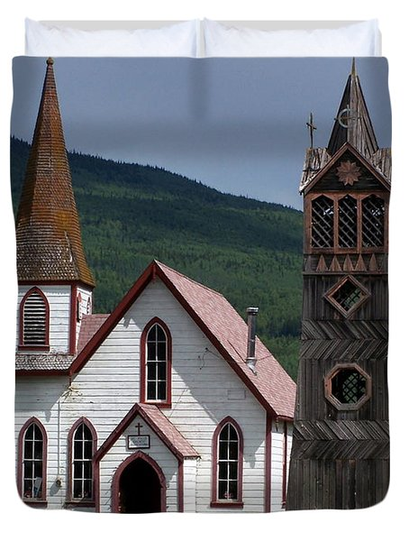 Church Duvet Cover by Marty Koch