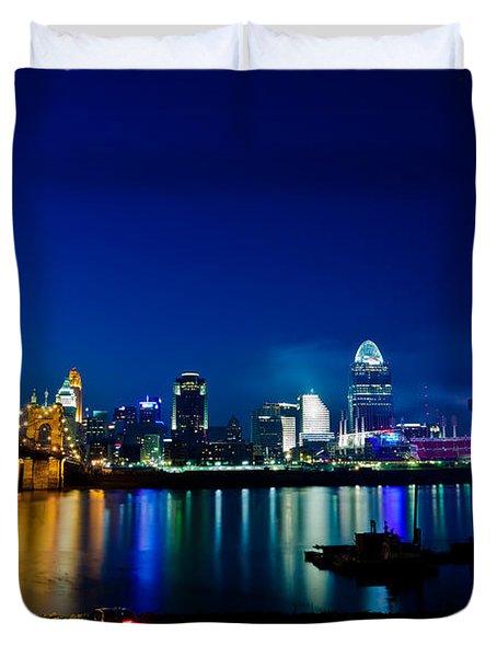 Cincinnati Boom Duvet Cover by Keith Allen