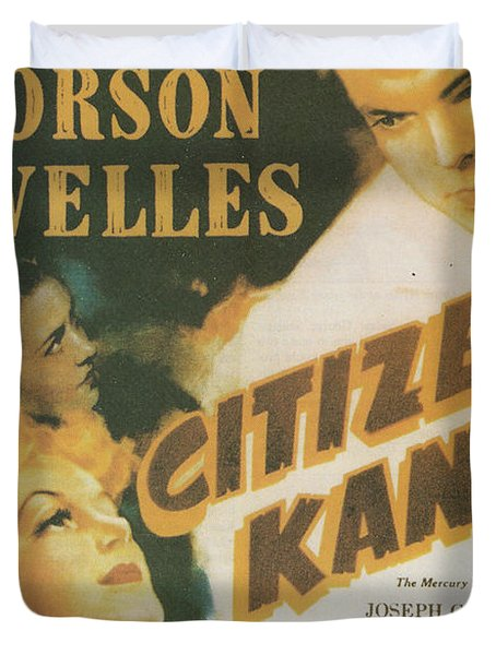 Citizen Kane - Orson Welles Duvet Cover by Georgia Fowler