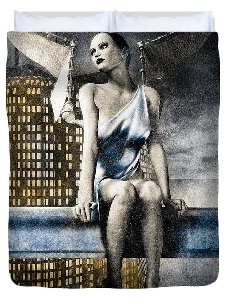 City Angel -2 Duvet Cover by Bob Orsillo