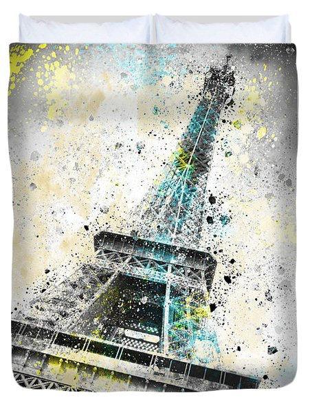 City-Art PARIS Eiffel Tower IV Duvet Cover by Melanie Viola