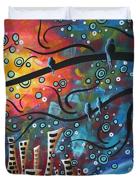 City by the Sea by MADART Duvet Cover by Megan Duncanson