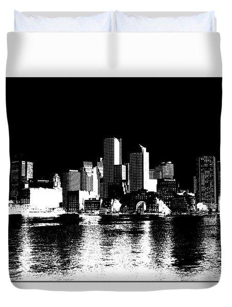 City Of Boston Skyline   Duvet Cover by Enki Art