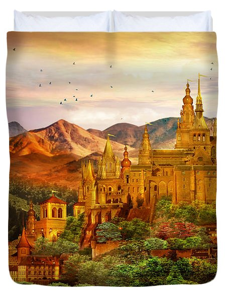 City Of Gold Duvet Cover by Mary Hood