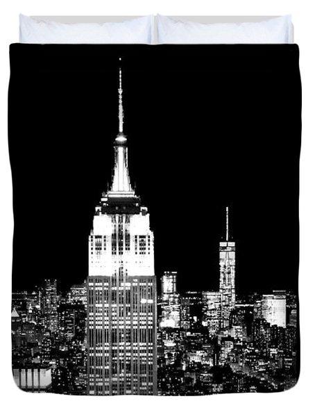 City Of The Night Duvet Cover by Az Jackson