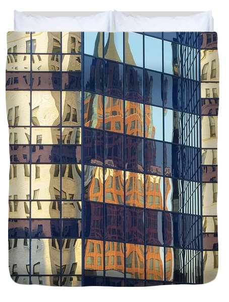 City Reflections 1 Duvet Cover by Anita Burgermeister