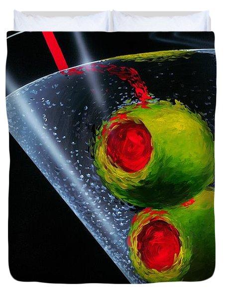 Classic Martini Duvet Cover by Michael Godard