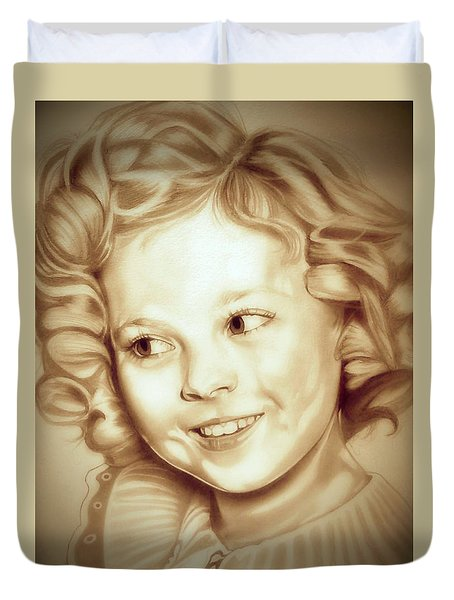 Classic Shirley Temple Duvet Cover by Fred Larucci