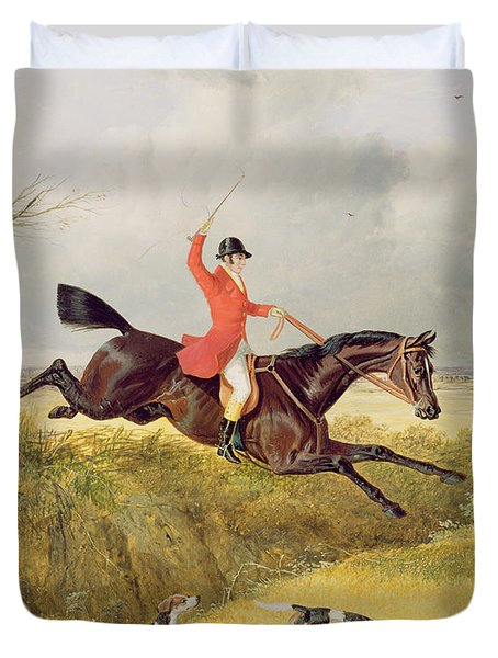 Clearing A Ditch Duvet Cover by John Frederick Herring Snr