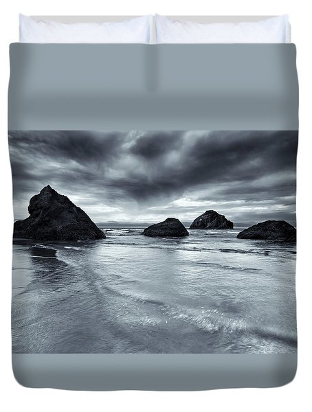 Clearing Storm Duvet Cover by Mike  Dawson