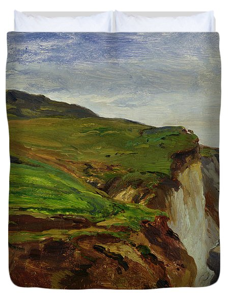 Cliffs Duvet Cover by Louis Eugene Gabriel Isabey