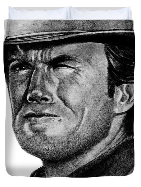 Clint Eastwood Duvet Cover by Bill Richards