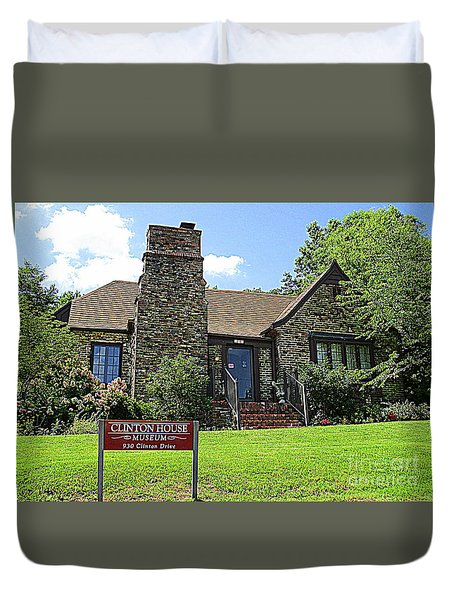 Clinton House Museum 1 Duvet Cover by Randall Weidner