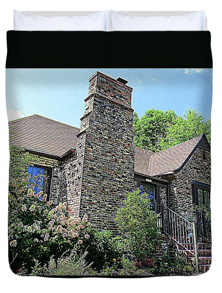 Clinton House Museum 3 Duvet Cover by Randall Weidner