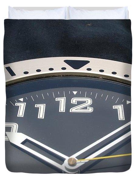 Clock Face Duvet Cover by Rob Hans