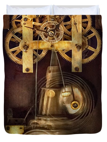 Clockmaker - The Mechanism  Duvet Cover by Mike Savad