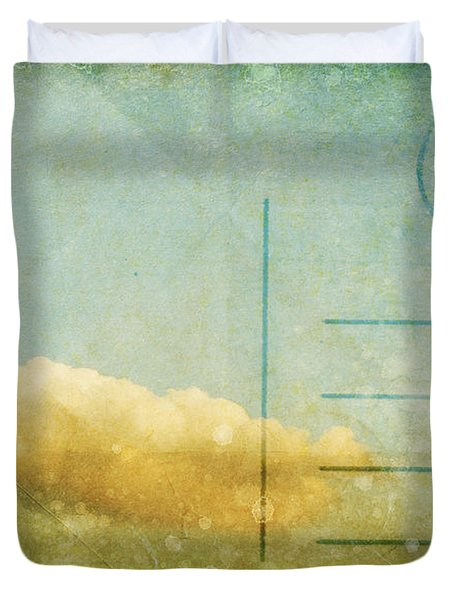 cloud and sky on postcard Duvet Cover by Setsiri Silapasuwanchai