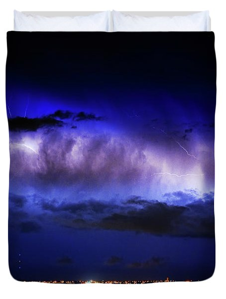 Cloud to Cloud Lightning Boulder County Colorado Duvet Cover by James BO  Insogna