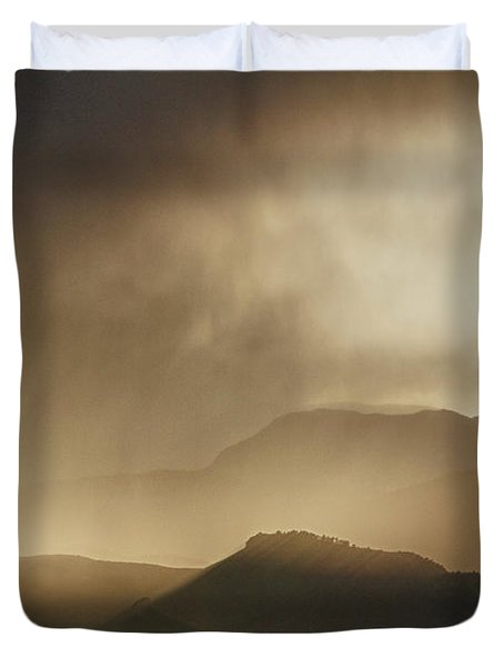 Clouds On The Rocky Mountains Front Range Foothills Duvet Cover by James BO  Insogna