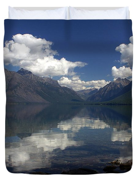 Clouds On The Water Duvet Cover by Marty Koch