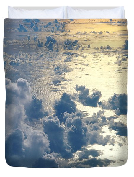Clouds Over Ocean Duvet Cover by Ed Robinson - Printscapes