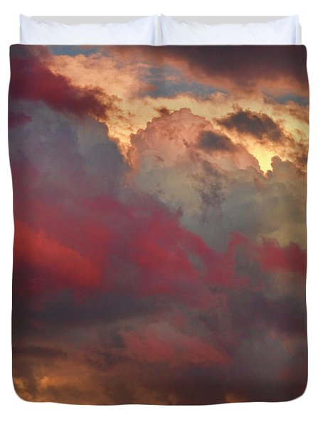 Cloudscape Sunset 46 Duvet Cover by James BO  Insogna