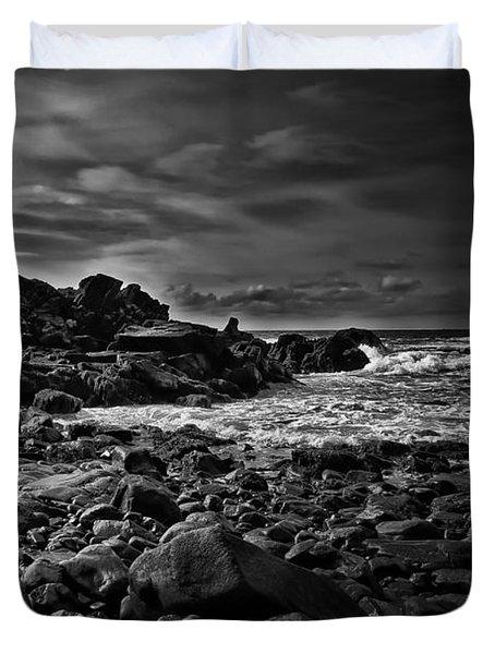 Coastal Home  Kennebunkport Maine Duvet Cover by Bob Orsillo