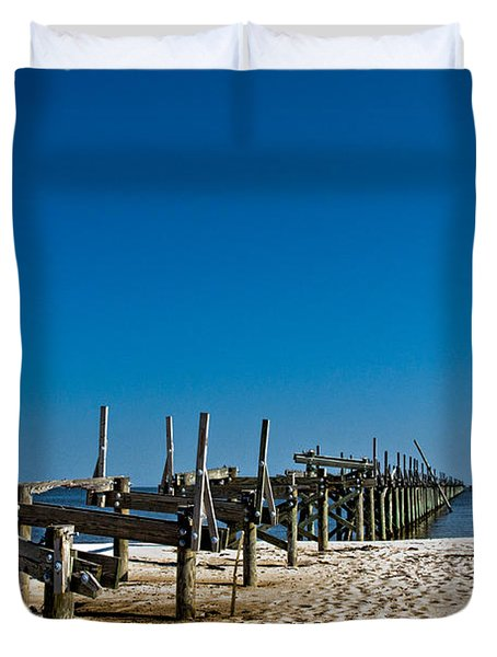 Coastal Remains Duvet Cover by Christopher Holmes