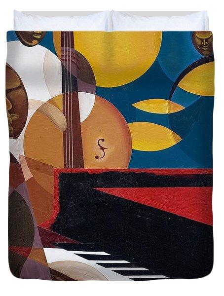 Cobalt Jazz Duvet Cover by Kaaria Mucherera